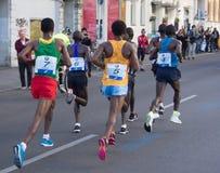 Grupo principal en Berlin Marathon 2015 Fotografía de archivo