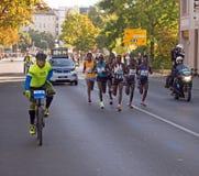 Grupo principal en Berlin Marathon 2015 Imagen de archivo libre de regalías