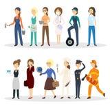 Grupo profissional da ocupação ilustração royalty free