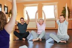 Grupo que exercita com aptidão Foto de Stock Royalty Free
