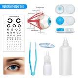 Grupo realístico da oftalmologia ilustração royalty free