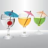 Grupo realístico do cocktail Ilustração Royalty Free