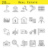 Grupo real do ícone do vetor da agência imobiliária Fotos de Stock