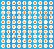 Grupo redondo dos ícones do esporte Fotos de Stock