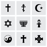 Grupo religioso do ícone dos símbolos do vetor Fotografia de Stock