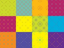 Grupo rentável de 12 testes padrões sem emenda do minimalismo tribal Geometria sagrado Imagem de Stock