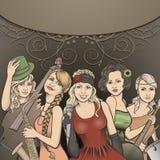 Grupo retro da música Imagem de Stock Royalty Free