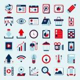 Grupo retro do ícone da Web Imagens de Stock