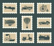 Grupo retro do transporte Imagens de Stock Royalty Free