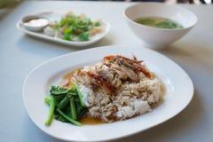 Grupo Roasted do arroz do pato Fotografia de Stock Royalty Free