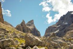 Grupo rochoso de Brenta de Dolomitis imagens de stock royalty free