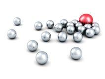 Grupo rojo de Sphere Of Metallic del líder del concepto Fotografía de archivo