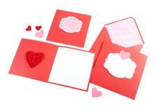 Grupo romântico do projeto isolado no branco Imagem de Stock Royalty Free