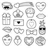 Grupo romântico do remendo Imagens de Stock