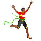 Grupo running do ícone dos jogos do verão do atletismo do vencedor Conceito de vencimento Atleta isométrico do corredor da vitóri Foto de Stock Royalty Free