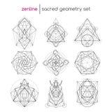 Grupo sagrado da geometria Foto de Stock Royalty Free