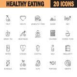 Grupo saudável do ícone comer ilustração stock