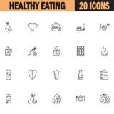 Grupo saudável do ícone comer ilustração do vetor