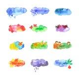 Grupo sazonal da aquarela Imagem de Stock