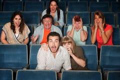 Grupo Scared fotografia de stock royalty free