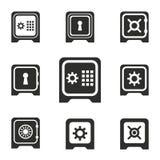 Grupo seguro do ícone Imagens de Stock