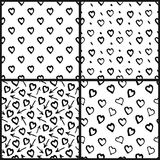 Grupo sem emenda abstrato do teste padrão do coração Imagens de Stock Royalty Free