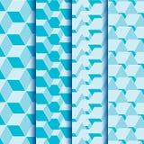 Grupo sem emenda da textura de formas quadradas geométricas Imagem de Stock
