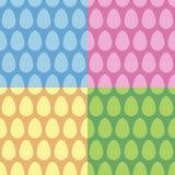 Grupo sem emenda do vetor do teste padrão do ovo da páscoa Fotografia de Stock Royalty Free