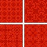Grupo sem emenda vermelho do fundo do teste padrão do triângulo Fotos de Stock Royalty Free