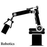 Grupo simples de linha relacionada ícones dos robôs Contém ícones como o piloto automático, Chatbot, bot quebrado e mais Curso ed ilustração do vetor