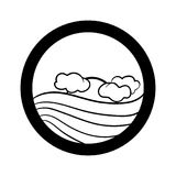 Grupo simples do ícone da paisagem Fotos de Stock Royalty Free