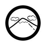 Grupo simples do ícone da paisagem Foto de Stock Royalty Free