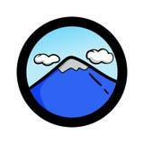 Grupo simples do ícone da paisagem Fotos de Stock
