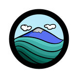 Grupo simples do ícone da paisagem Imagens de Stock