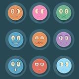 Grupo Smily do ícone ilustração royalty free