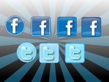 Grupo social do ícone dos meios Foto de Stock Royalty Free