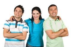 Grupo sonriente feliz de amigos Fotografía de archivo libre de regalías