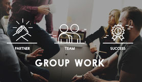 Grupo Team Work Organization Concept Fotos de archivo