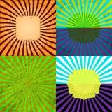 Grupo Textured retro do fundo do Grunge do Sunburst Imagem de Stock