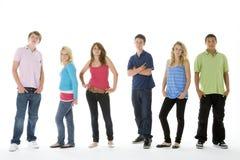 Grupo tirado de adolescentes Imagenes de archivo