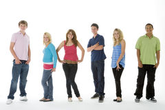 Grupo tirado de adolescentes Foto de archivo libre de regalías
