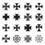 Grupo transversal do ícone do interruptor inversor, preto e branco ilustração do vetor