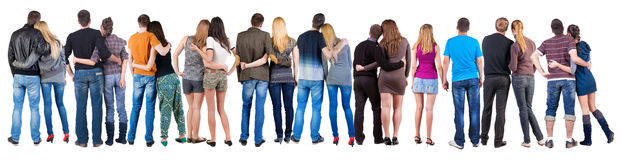 Grupo traseiro da vista de pares imagem de stock