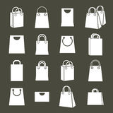 Grupo traseiro de compra do vetor dos ícones, símbolo simplista de compra do tema Fotografia de Stock Royalty Free