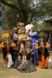 Grupo tribal colorido de la danza Fotografía de archivo