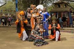 Grupo tribal de la danza Fotografía de archivo