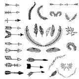 Grupo tribal do vetor ilustração stock