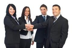 Grupo unido de hombres de negocios Imágenes de archivo libres de regalías