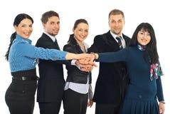Grupo unido de hombres de negocios Foto de archivo