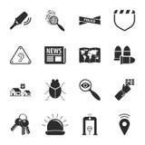 Grupo universal dos ícones da segurança 16 para a Web e o móbil ilustração stock